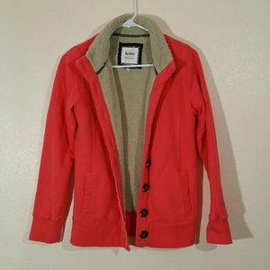 Boden Red Fleece Lined Cardigan
